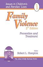 Family violence : prevention and treatment