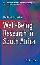 Well-being research in South Africa