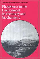 Phosphorus in the environment, its chemistry and biochemistry.
