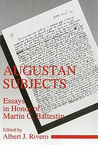 Augustan subjects : essays in honor of Martin C. Battestin
