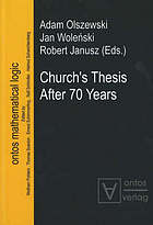 Church's Thesis after 70 years