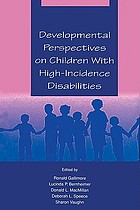 Developmental perspectives on children with high-incidence disabilities