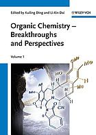 Organic chemistry : breakthroughs and perspectives