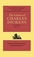 The Letters... (Pilgrim edition)... d. by Madeline House and Graham Storey. Associate ed. W. J. Carlton, Philip Collins, K. J. Fielding, Kathleen Tillotson. 2, 1840-1841.