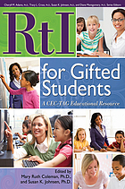 RTI for gifted students : a CEG-TAG educational resource