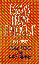 Essays from 'Epilogue' 1935-1937