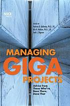 Managing gigaprojects : advice from those who've been there, done that
