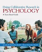 Doing collaborative research in psychology : a team-based guide