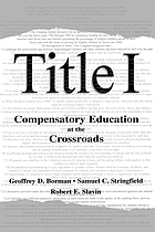 Title I, compensatory education at the crossroads
