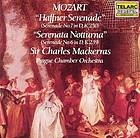 "Haffner"" serenade, K. 250 (Serenade No. 7 in D major) ; ""Serenata notturna"", K. 239 (Serenade No. 6 in D major)"