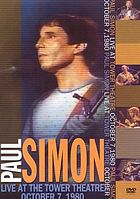 Paul Simon live at the Tower Theatre, October 7, 1980