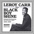 Leroy Carr & Black Boy Shine unissued test pressings and alternate takes 1934-1937 in chronological order