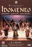 Idomeneo W.A. Mozart's opera in three acts