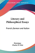 Literary and philosophical essays, French, German and Italian
