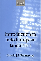 Introduction to Indo-European linguistics