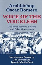 Voice of the voiceless : the four pastoral letters and other statements