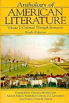 Anthology of American literature