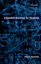A Sanskrit grammar for students