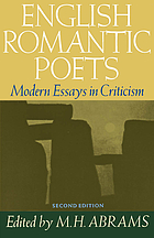 English romantic poets; modern essays in criticism