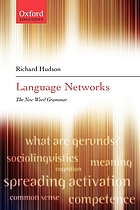 Language networks : the new word grammar