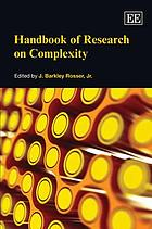Handbook of research on complexity