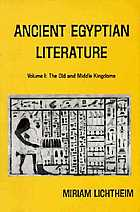 Ancient Egyptian literature : a book of readings