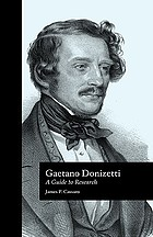 Gaetano Donizetti : a guide to research