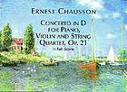 Concerto in D major, opus 21, for violin, piano and string quartet