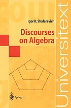 Discourses on algebra