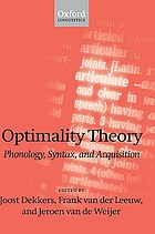 Optimality theory : phonology, syntax, and acquisition