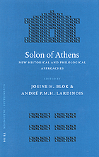 Solon of Athens : new historical and philological approaches