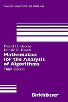 Mathematics for the analysis of algorithms