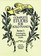 Complete etudes for solo piano