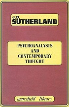 Psychoanalysis and contemporary thought