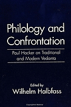 Philology and confrontation : Paul Hacker on traditional and modern vedanta
