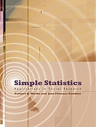 Simple statistics : applications in social research