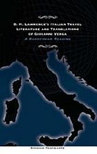 D.H. Lawrence's Italian travel literature and translations of Giovanni Verga : a Bakhtinian reading