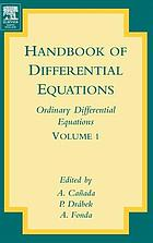 Handbook of differential equations : ordinary differential equations