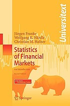 Statistics of financial markets : an introduction