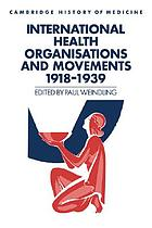 International health organisations and movements, 1918-1939