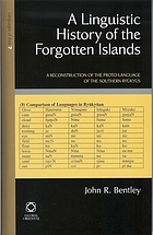 A linguistic history of the forgotten islands : a reconstruction of the proto-language of the Southern Ryūkyūs