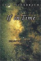 If in time : selected poems, 1975-2000