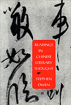 Readings in Chinese literary thought