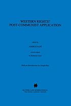 Western rights? : post-communist application