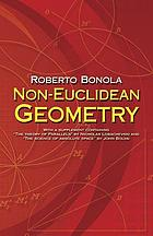 Non-Euclidean geometry : a critical and historical study of its developments