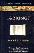 1 and 2 Kings : an introduction and commentary