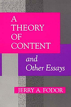A theory of content and other essays