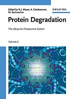 Protein degradation : the ubiquitin-proteasome system