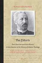 The Ẓāhirīs : their doctrine and their history : a contribution to the history of Islamic theology