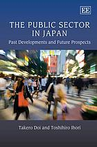 The public sector in Japan : past developments and future prospects